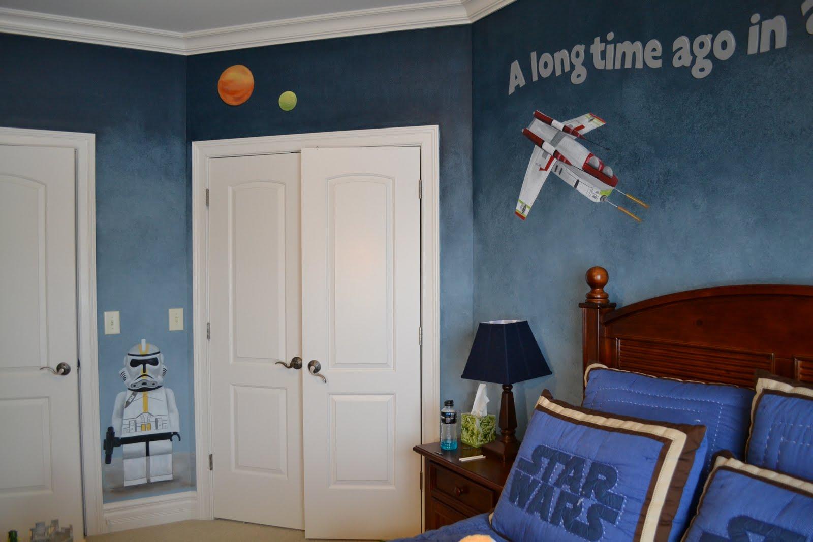 Детская комната для мальчика звездные войны