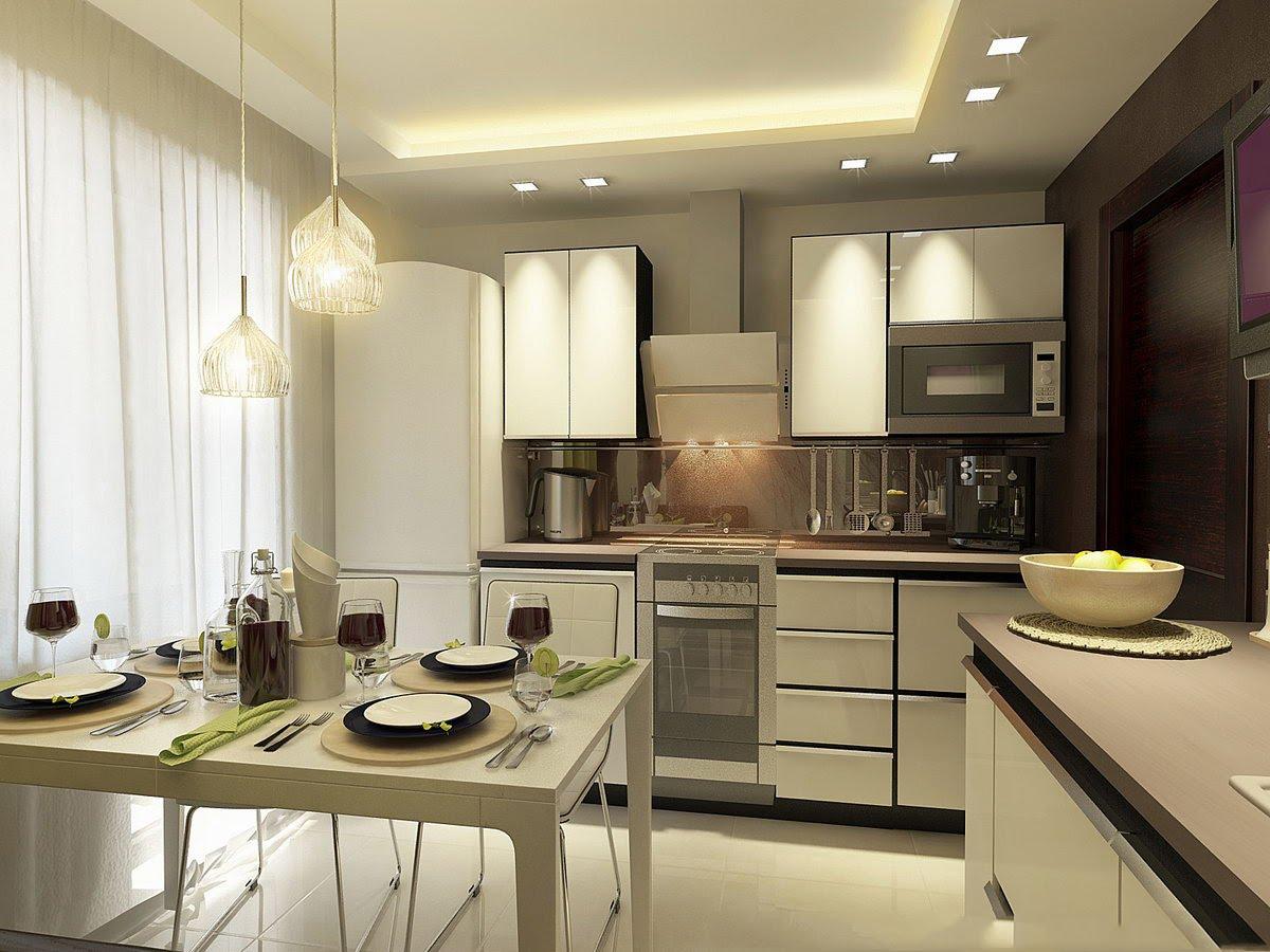 Кухня 9 кв м столовая