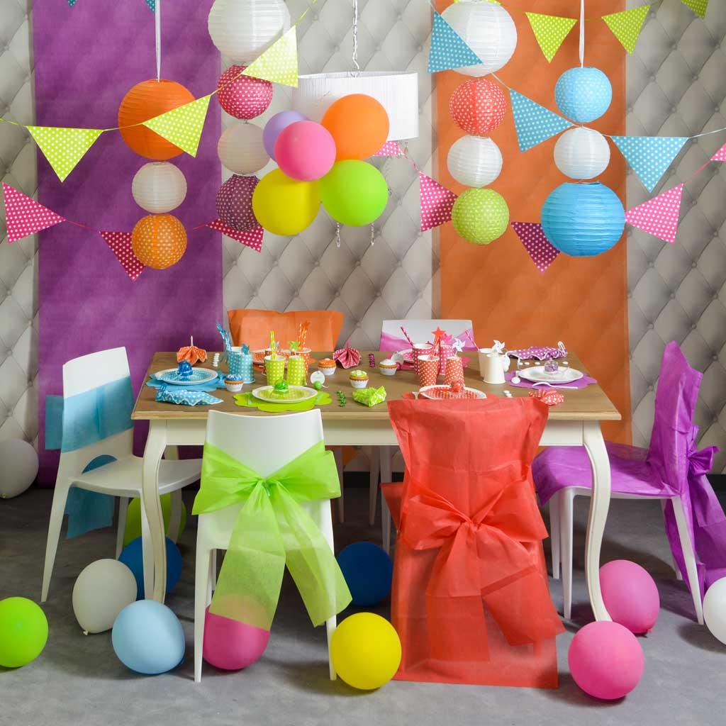 Декор стульев на детский день рождения