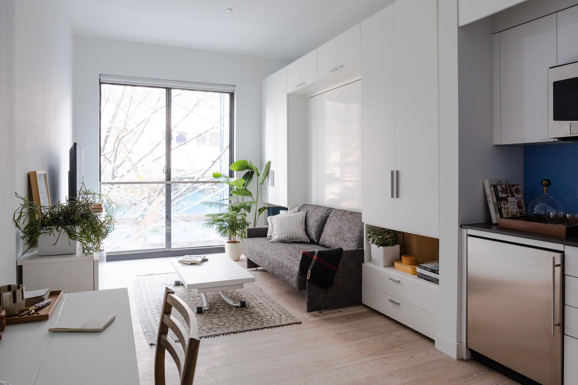 Интерьер квартиры студии светлый