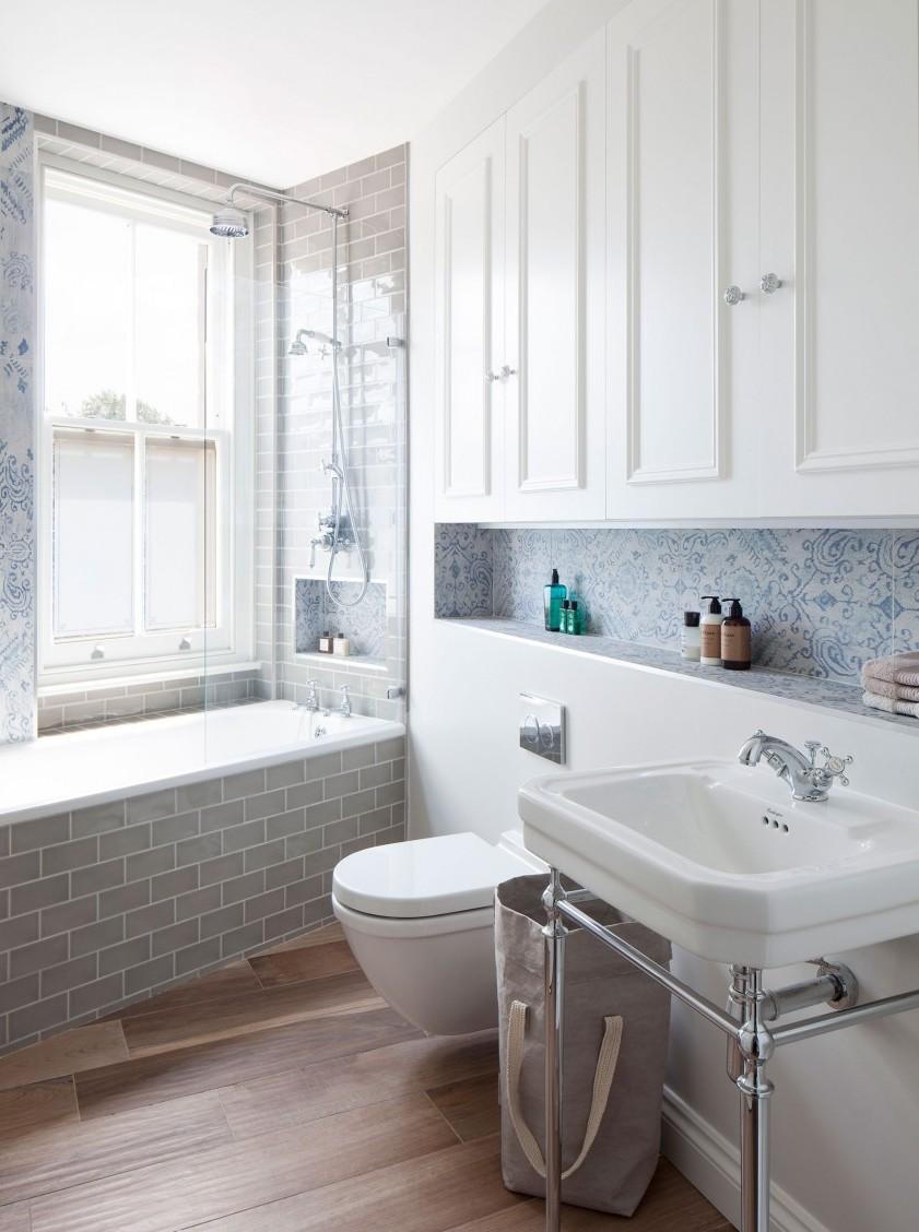 Идеи дизайна маленькой ванной светлой