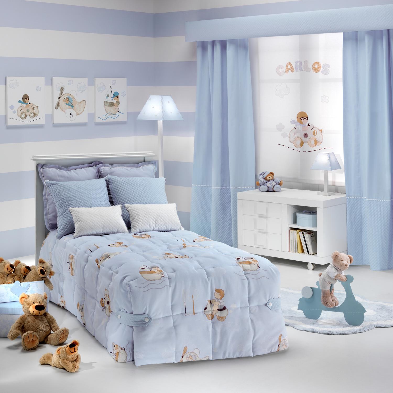 Текстиль в детской комнате для мальчика