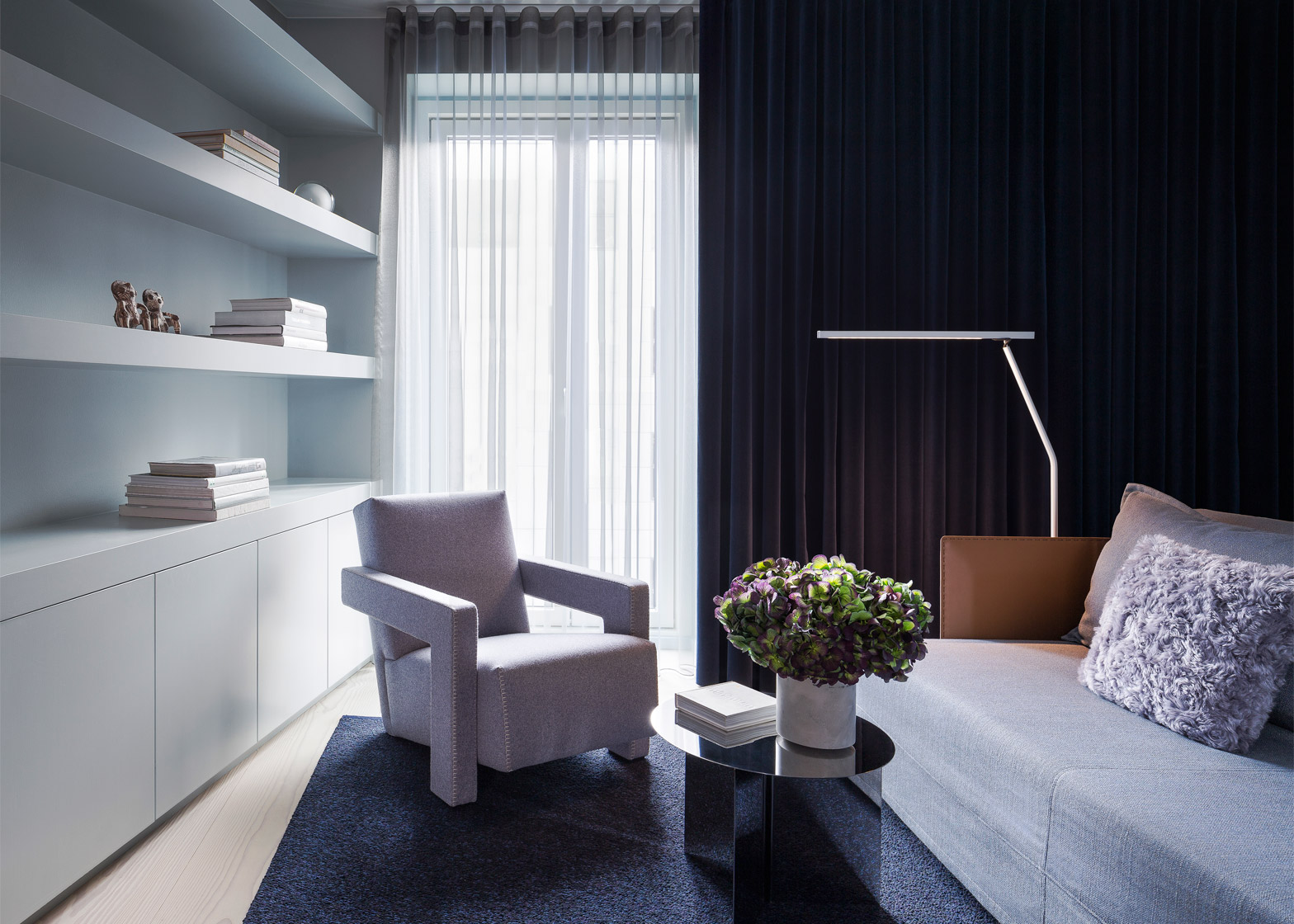 Дизайн однокомнатной квартиры с текстилем