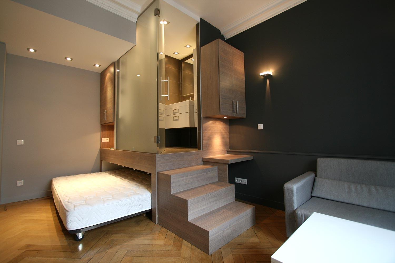 Спальня трансформер в однокомнатной квартире