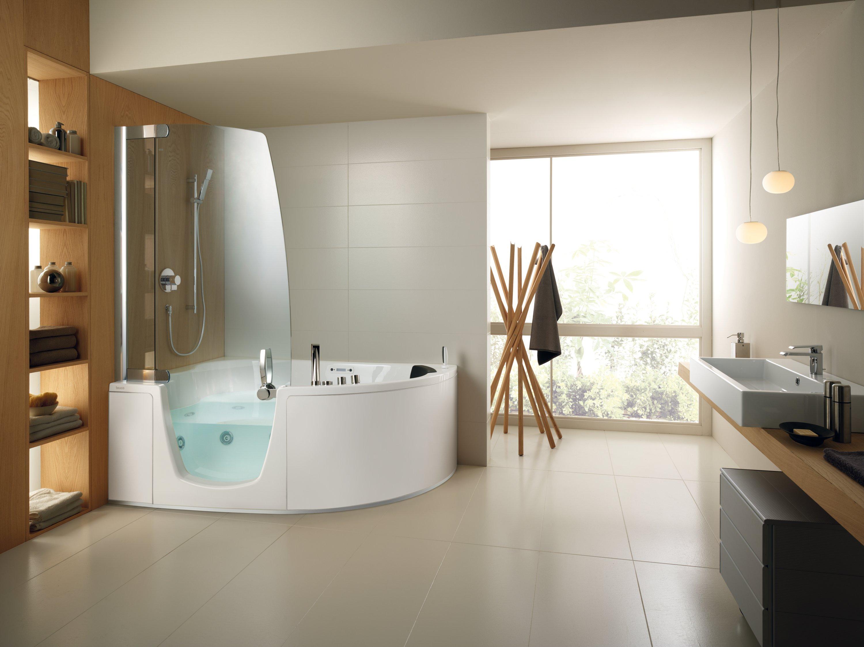 Интерьер ванной угловой