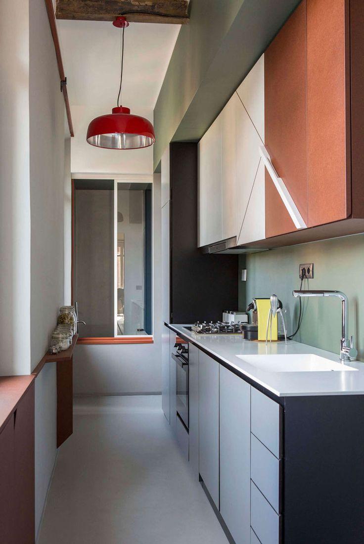 Кухня 9 кв м узкая