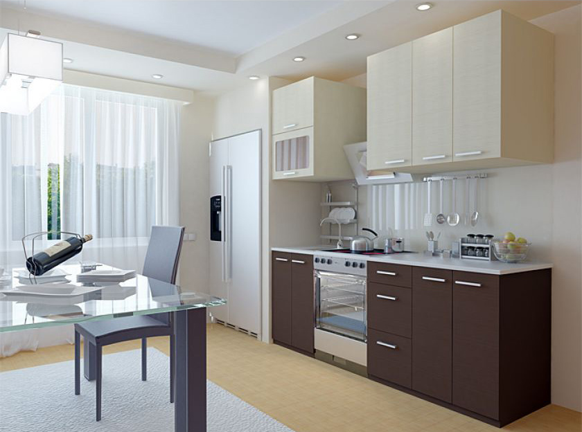 Замена кухонных фасадов цвета ванили