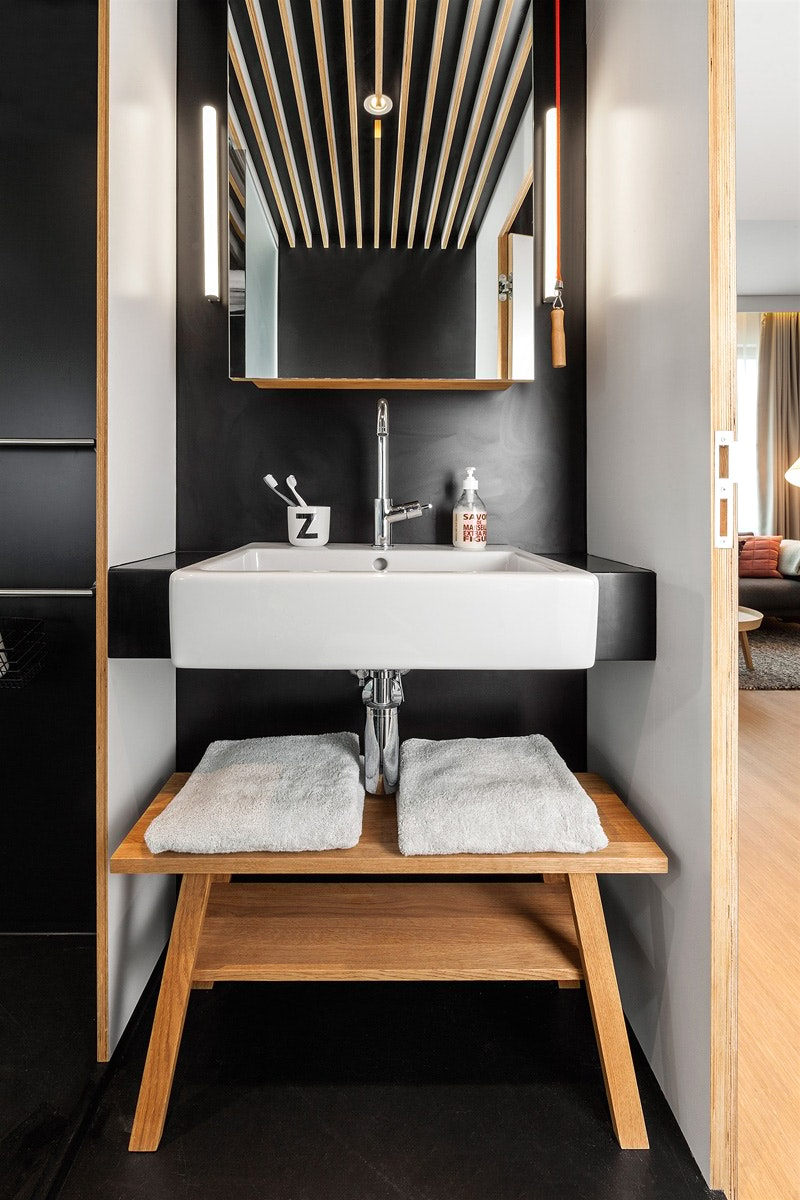 Интерьер ванной квартиры студии