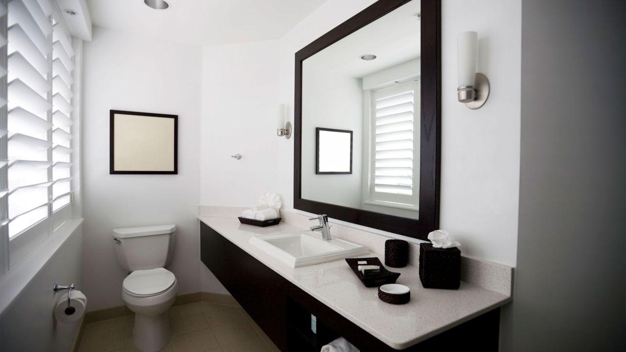 Зеркало в ванную комнату венге