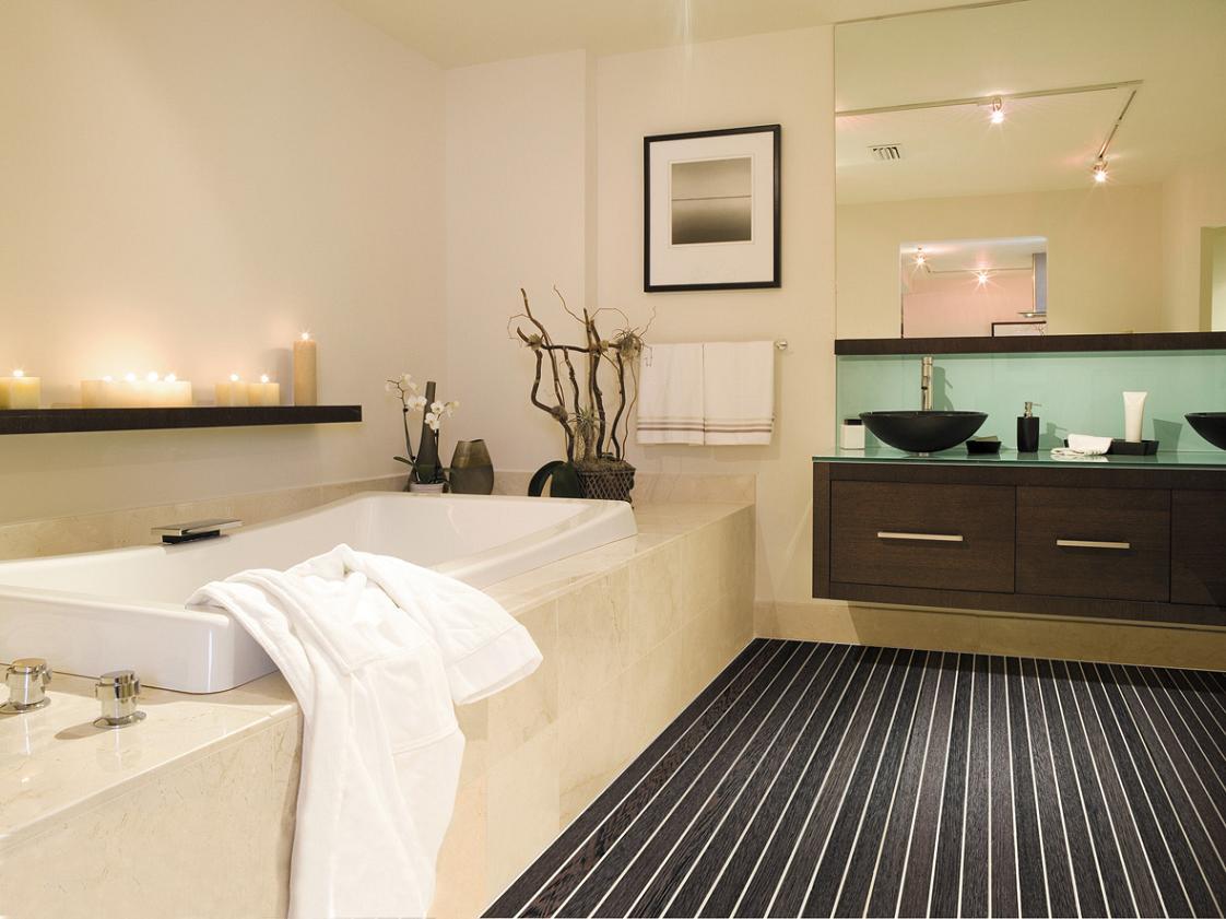 Черная мебель венге в ванной