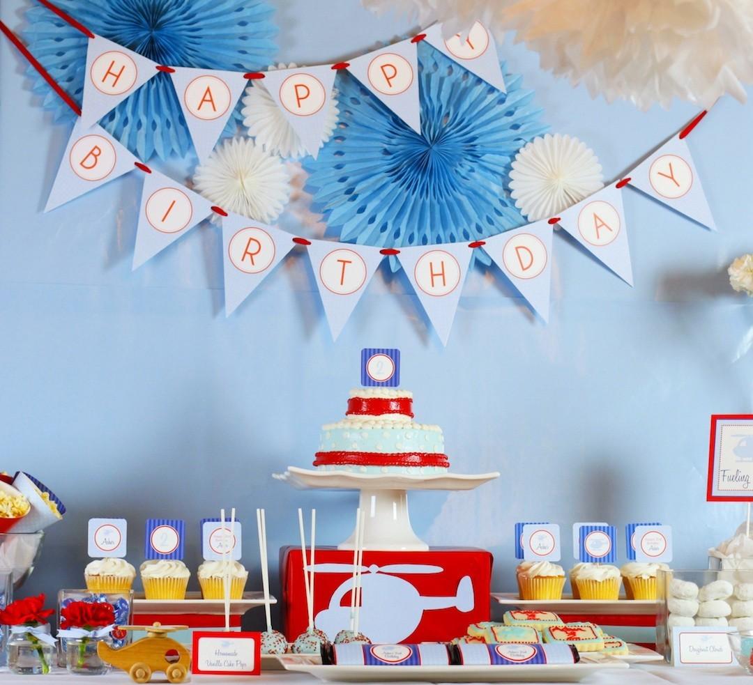 Оформление детского дня рождения вертолетиками
