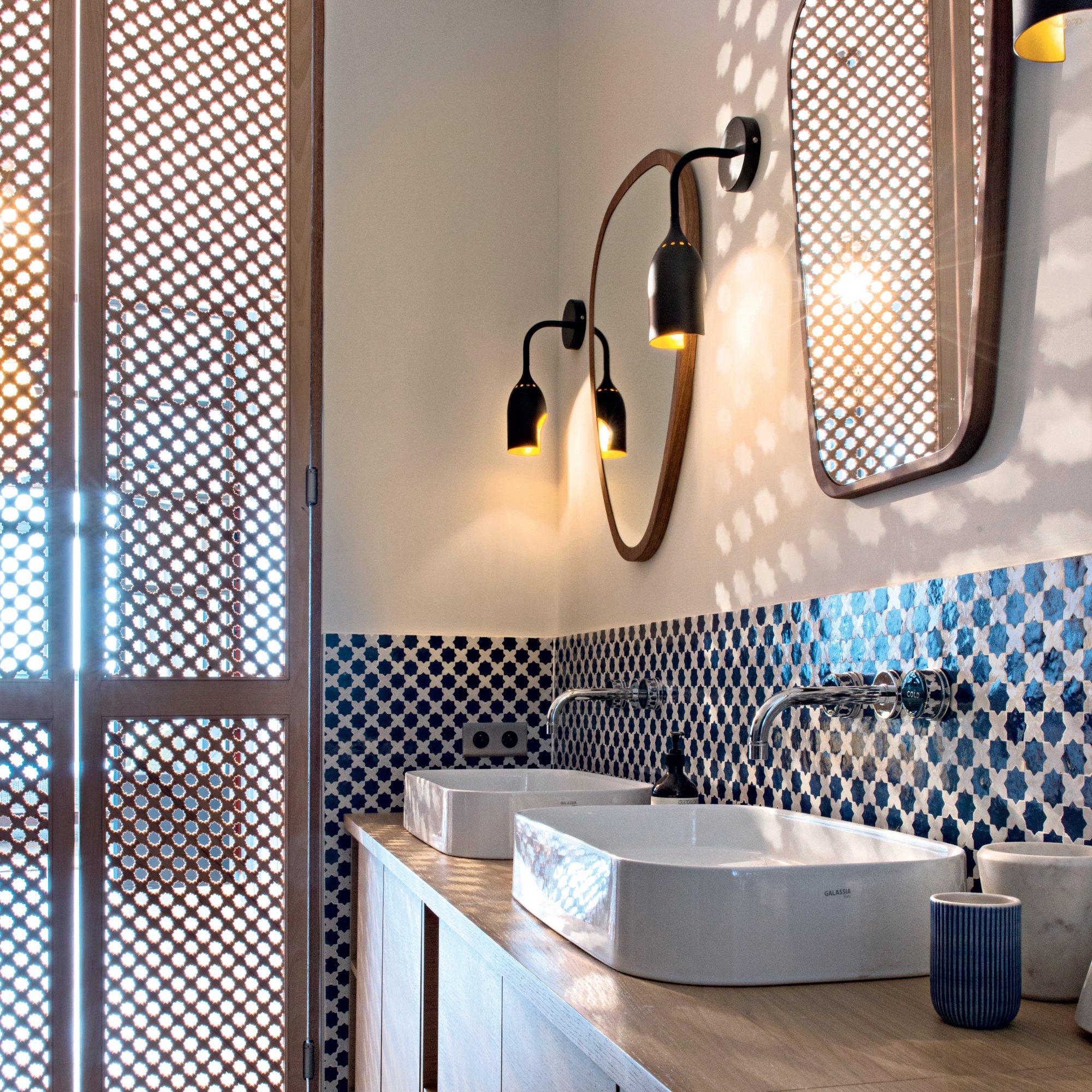 Интерьер ванной в восточном стиле