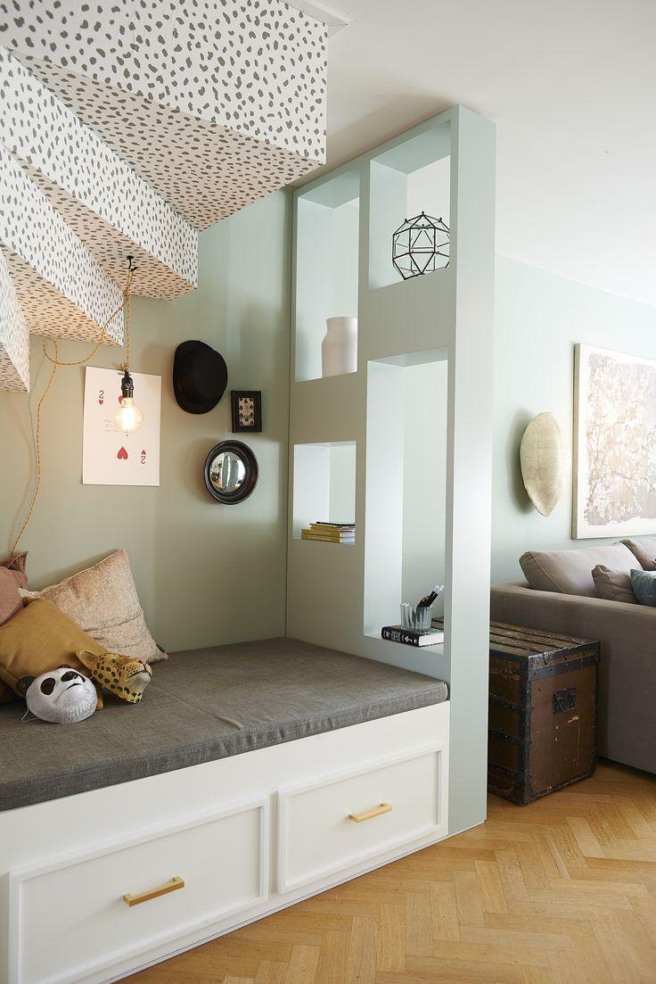 Детская в однокомнатной квартире со встроенной кроватью