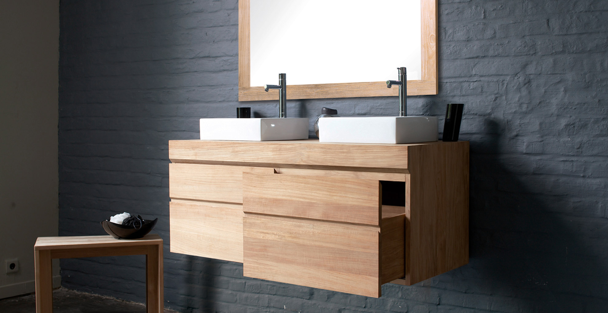 Мебель для ванной с ящиками