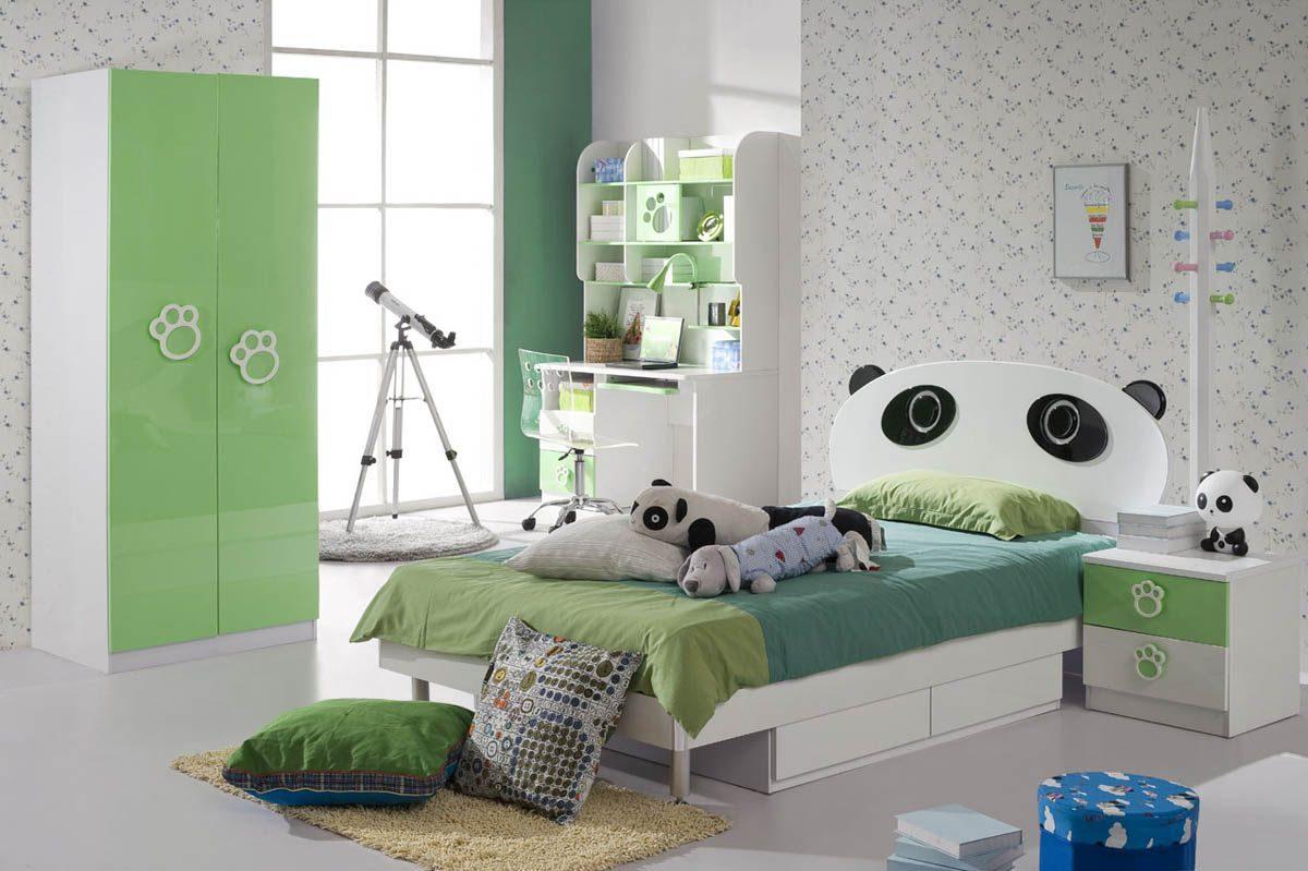 Детская комната для девочки зеленая