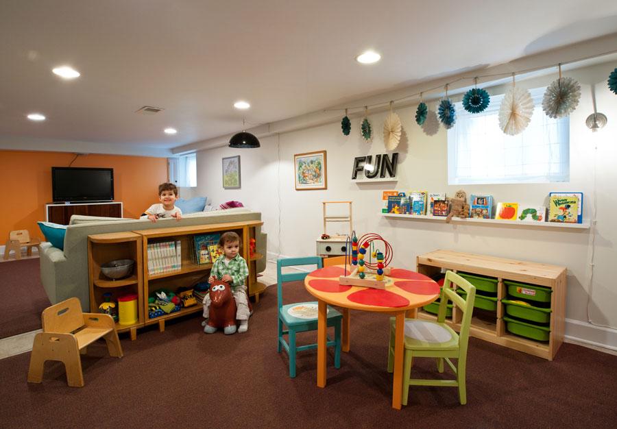 Детская в однокомнатной квартире зонирование