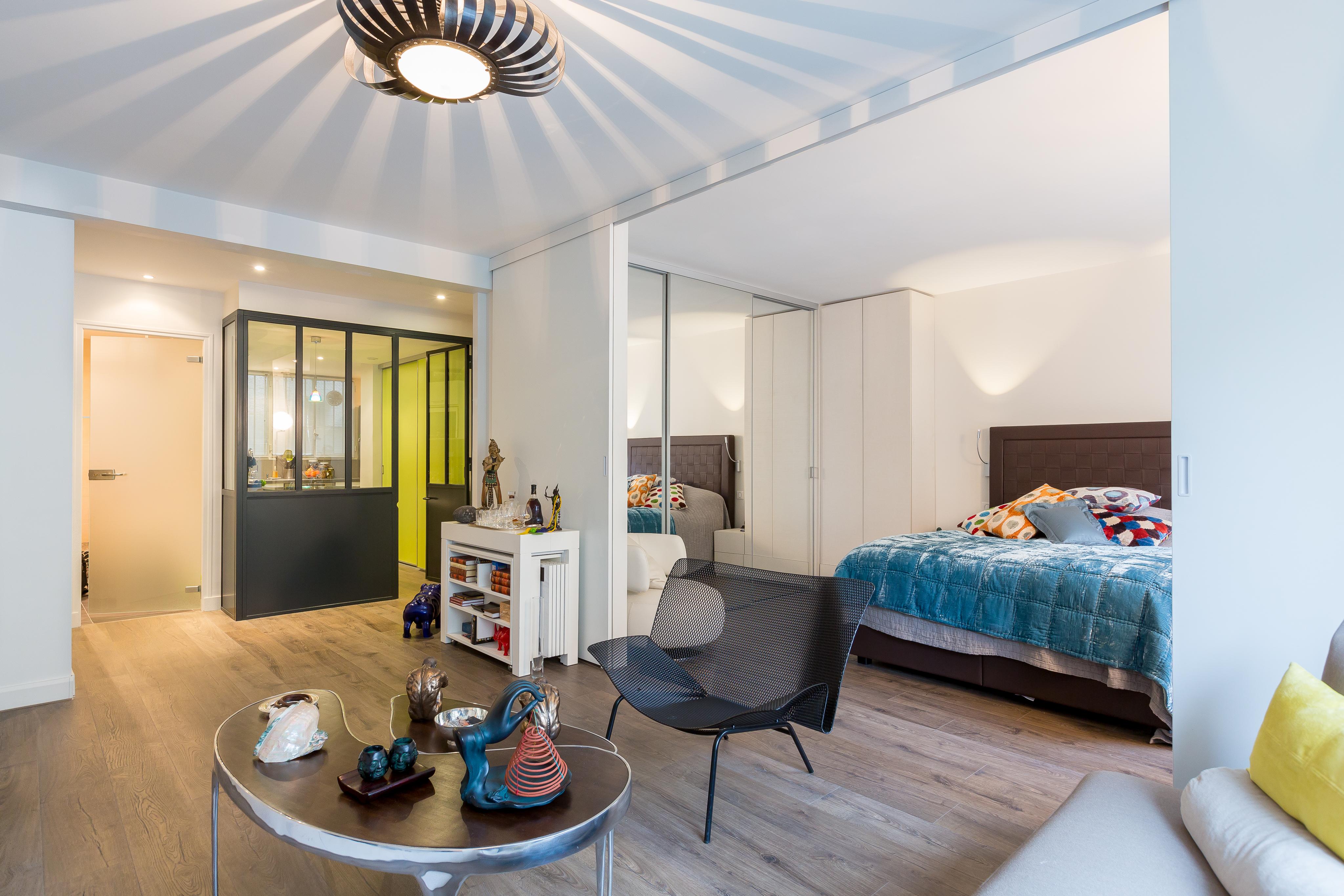 Зонирование спальни в однокомнатной квартире