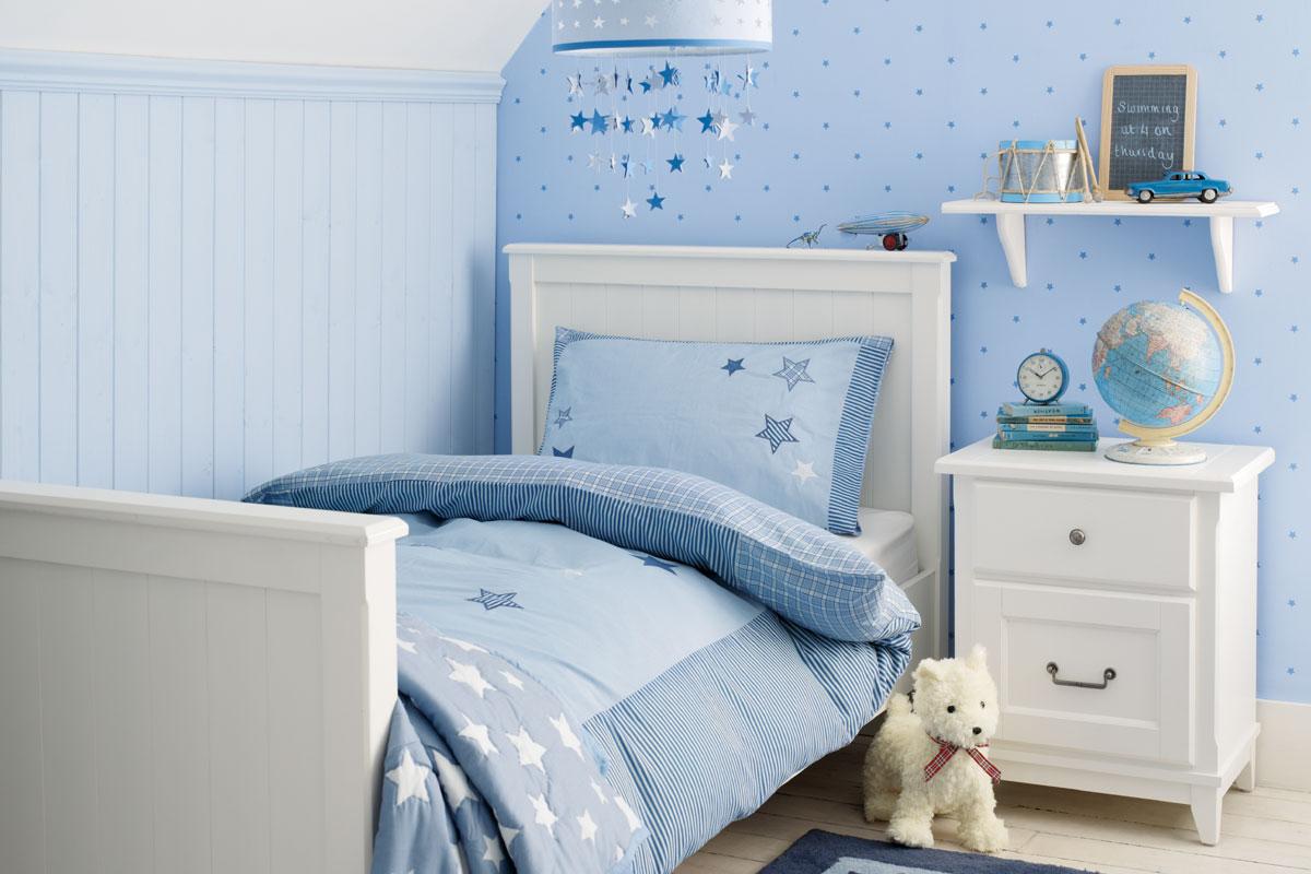 Детская комната для мальчика со звездамиДетская комната для мальчика со звездами