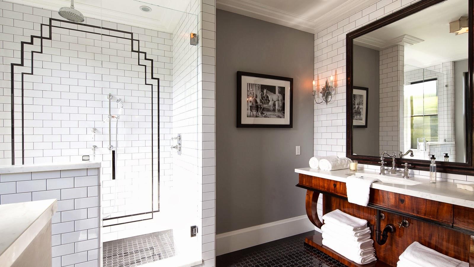 Ванная комната в современном стиле ар деко