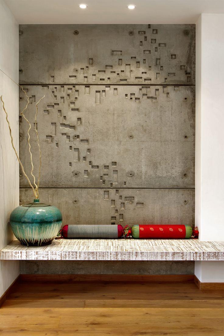 Ниша бетонная в комнате