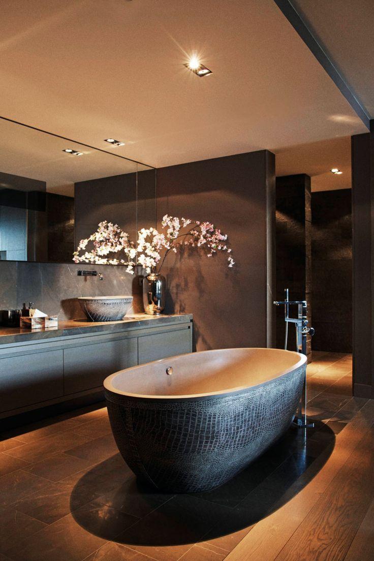 Ванная комната в современном стиле черная