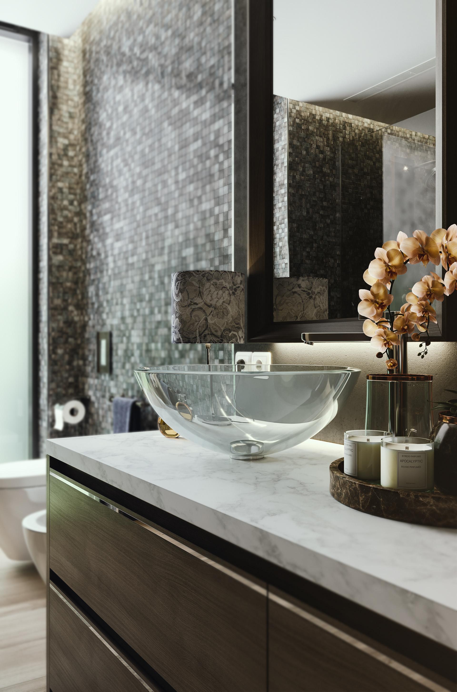 Ванная комната в современном стиле декор