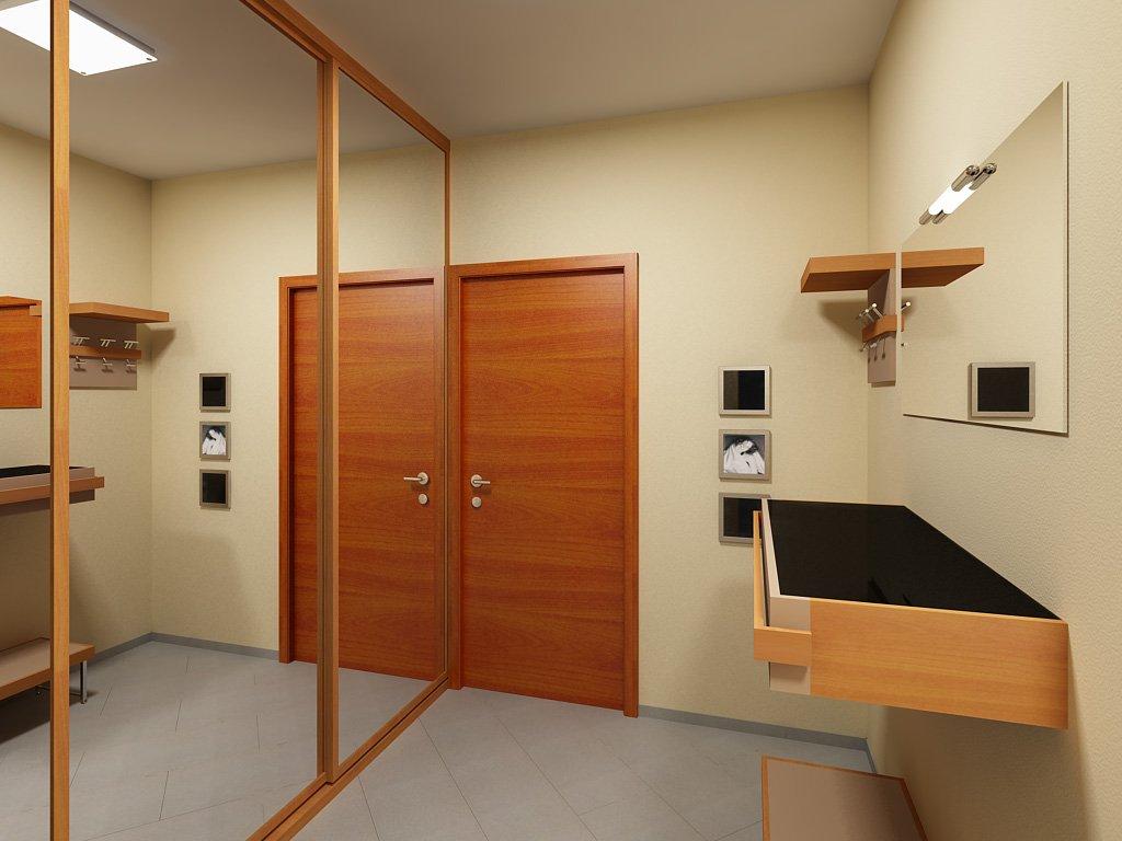 Шкаф в прихожую в лаконичном дизайне