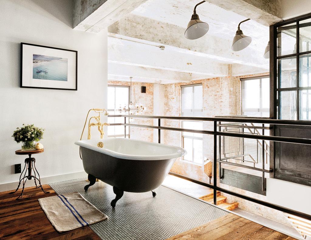 Ванная комната в современном стиле лофт