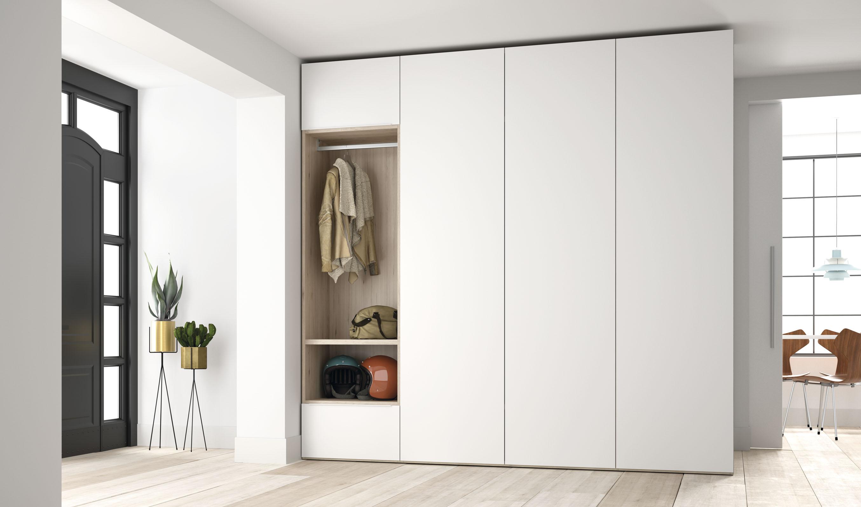 Шкаф в прихожую распашной в стиле модерн