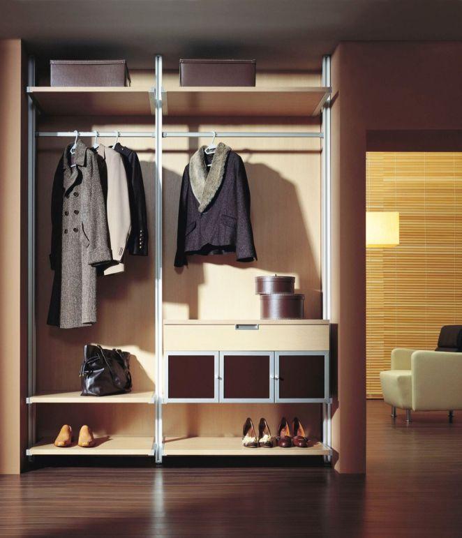 Шкаф встроенный открытый