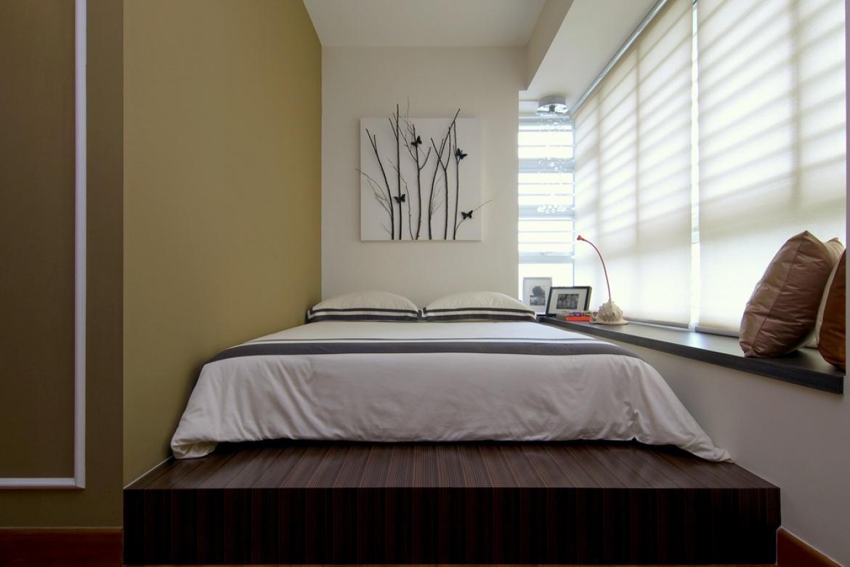 Кровать подиум в азиатском стиле