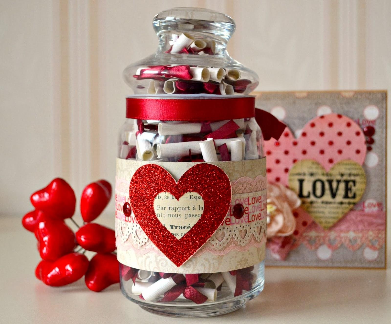 Подарок на 14 февраля своими руками декоративная банка
