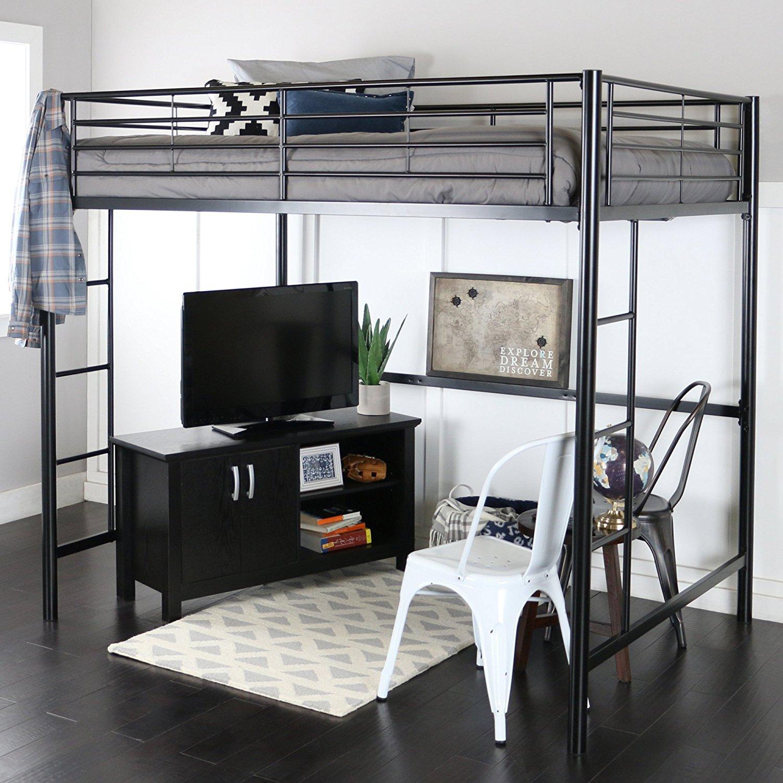 Кровать чердак черная