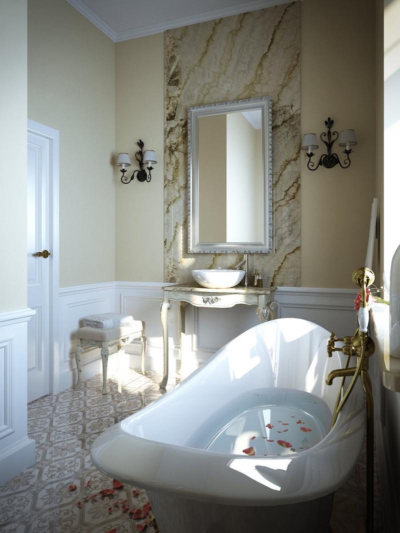 Большая ванная классическая