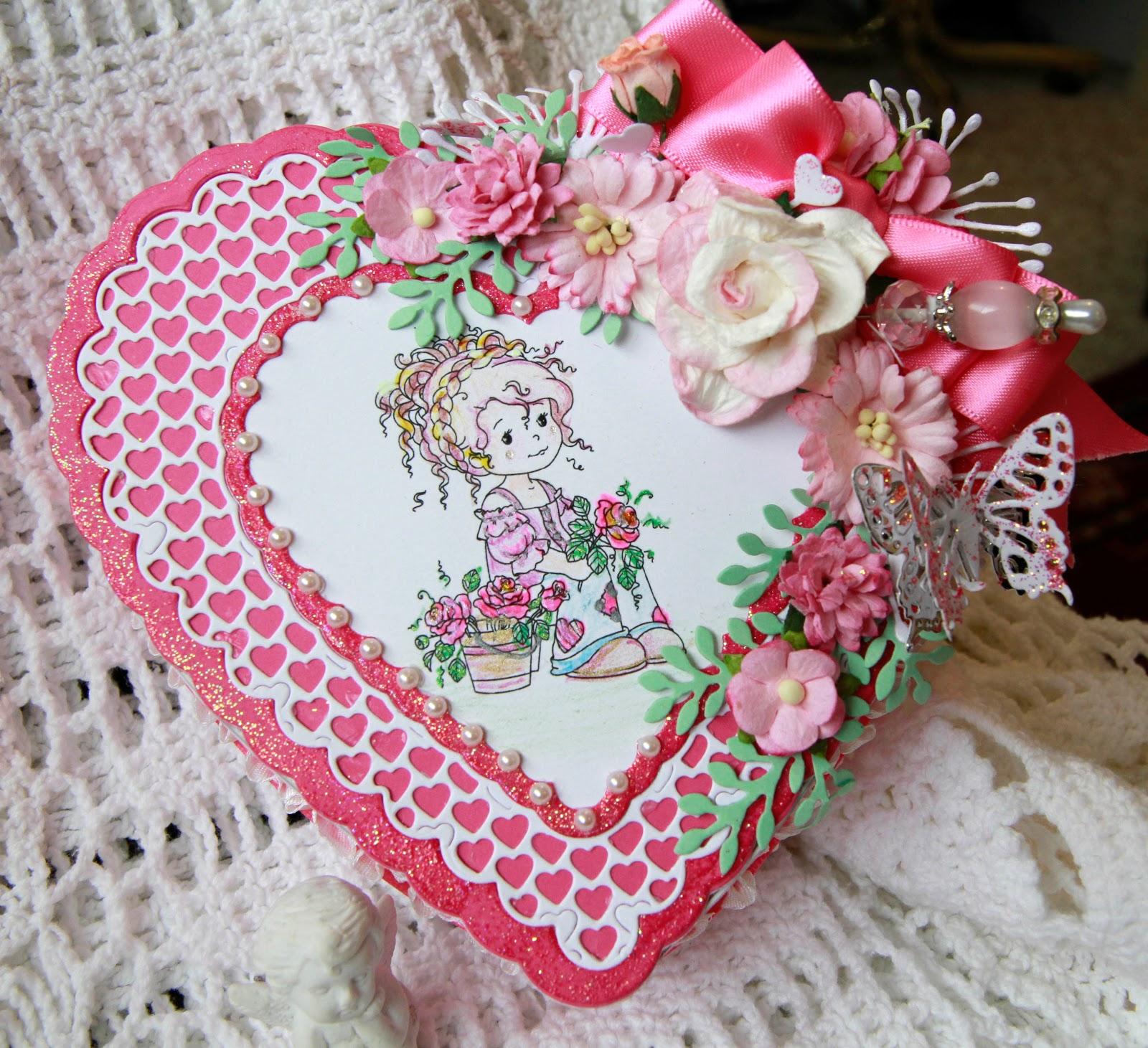 Подарок на 14 февраля своими руками рамка с цветами
