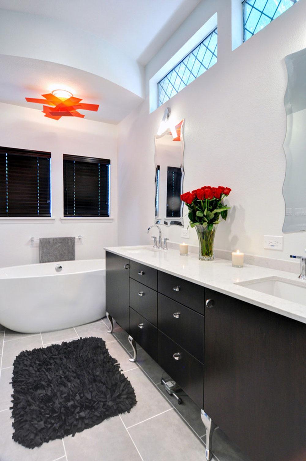 Большая ванная в стиле ар-деко