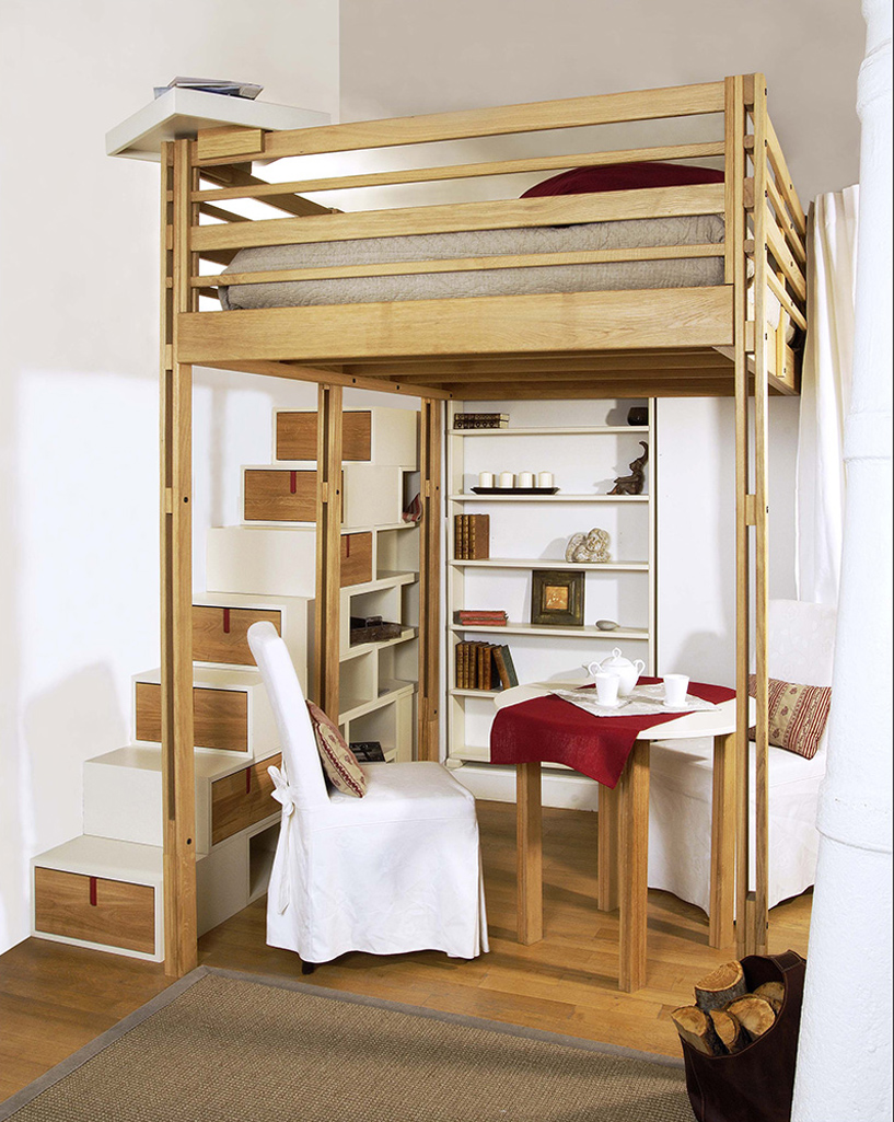 Кровать чердак деревянная