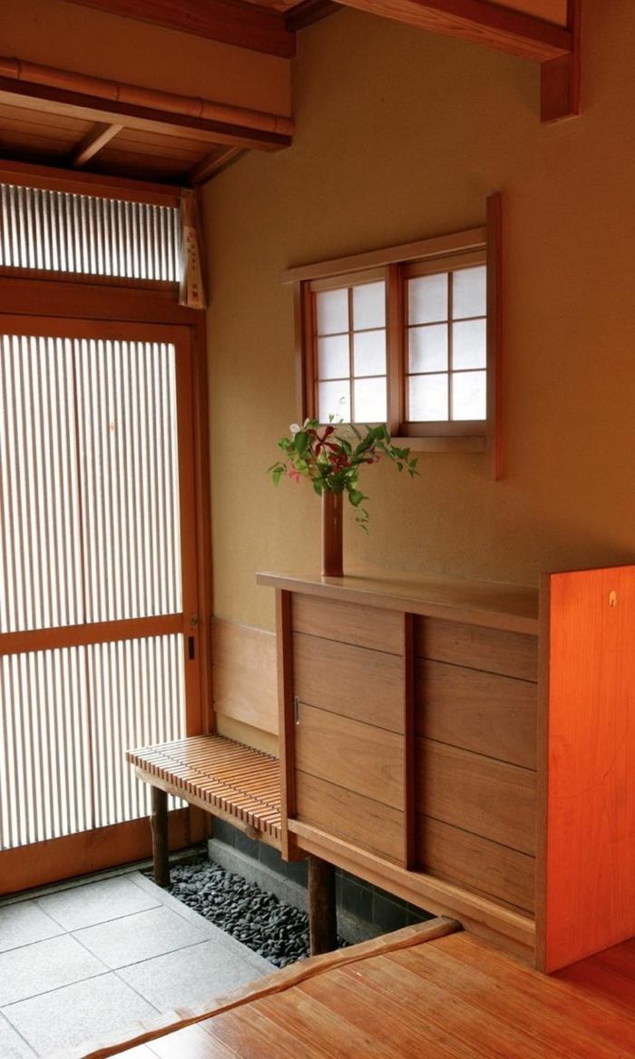 Японский интерьер деревянный