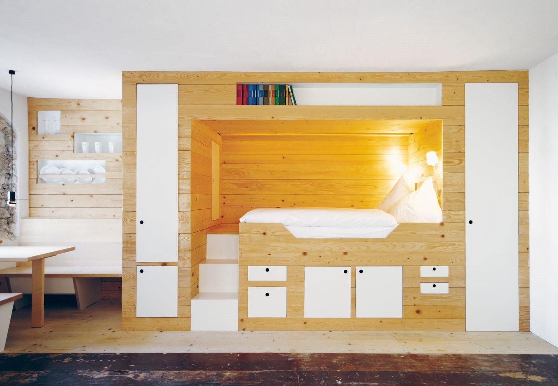 Кровать подиум детская в нише