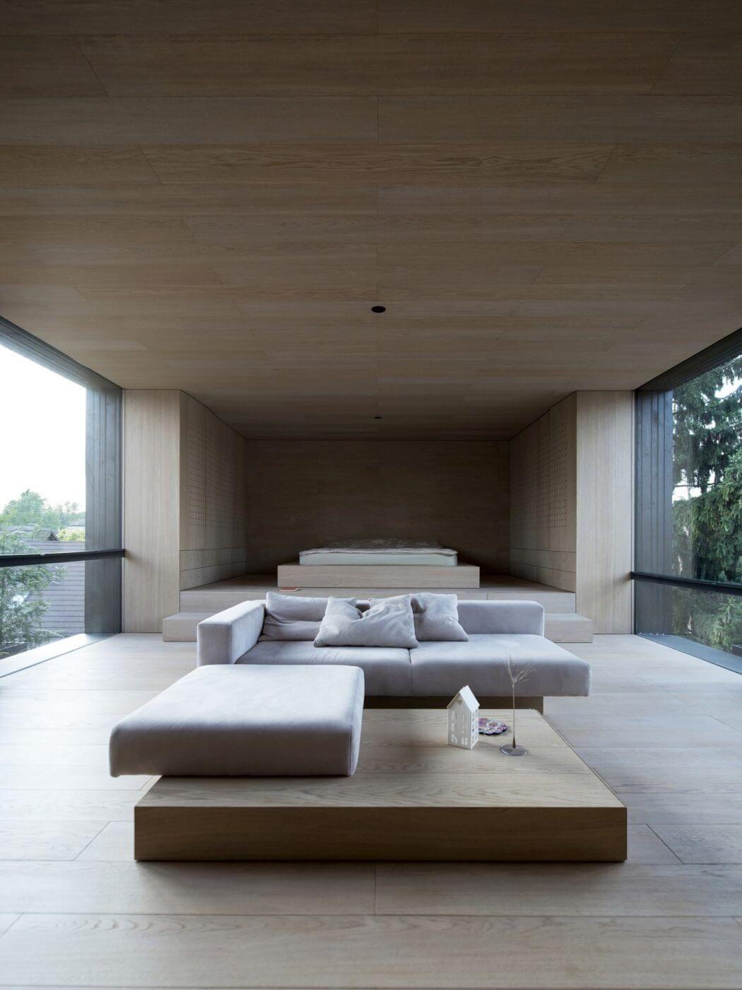Японский интерьер с диваном