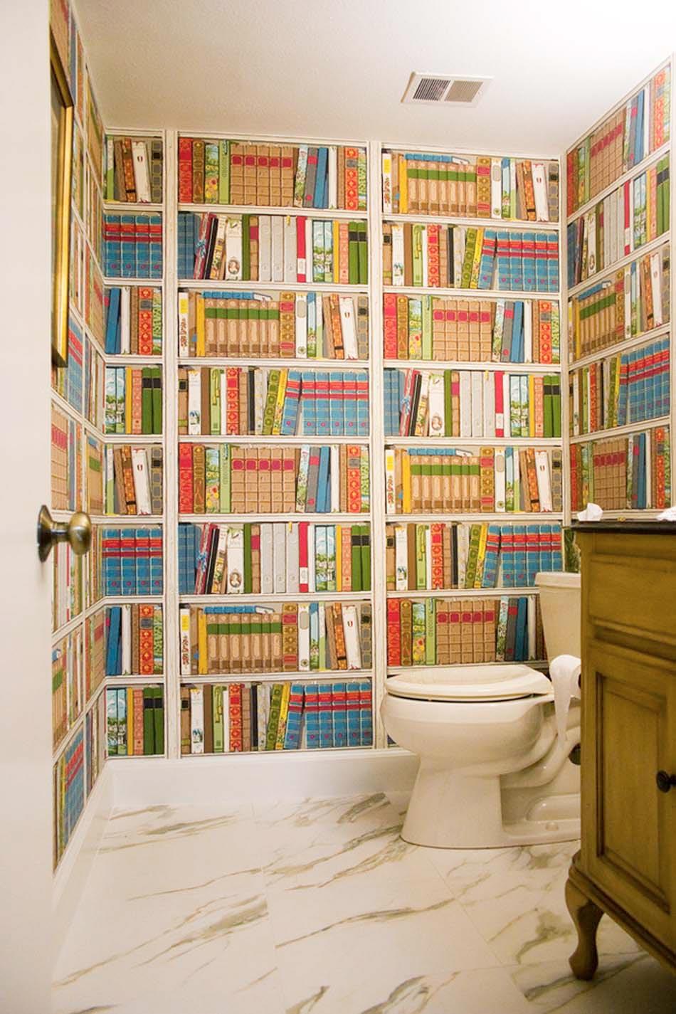 Обои в туалете дизайн