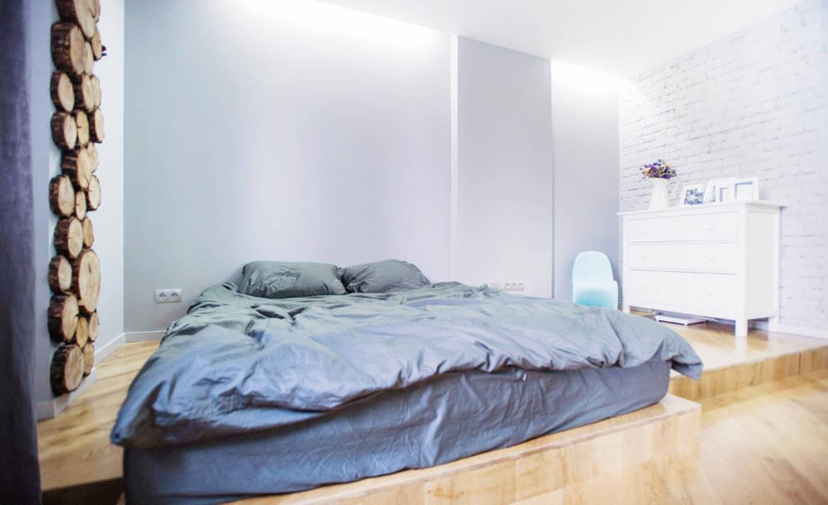 Кровать подиум двуспальная