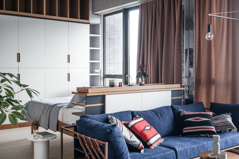 Живем со вкусом: как расставить мебель в однокомнатной квартире (57 фото)