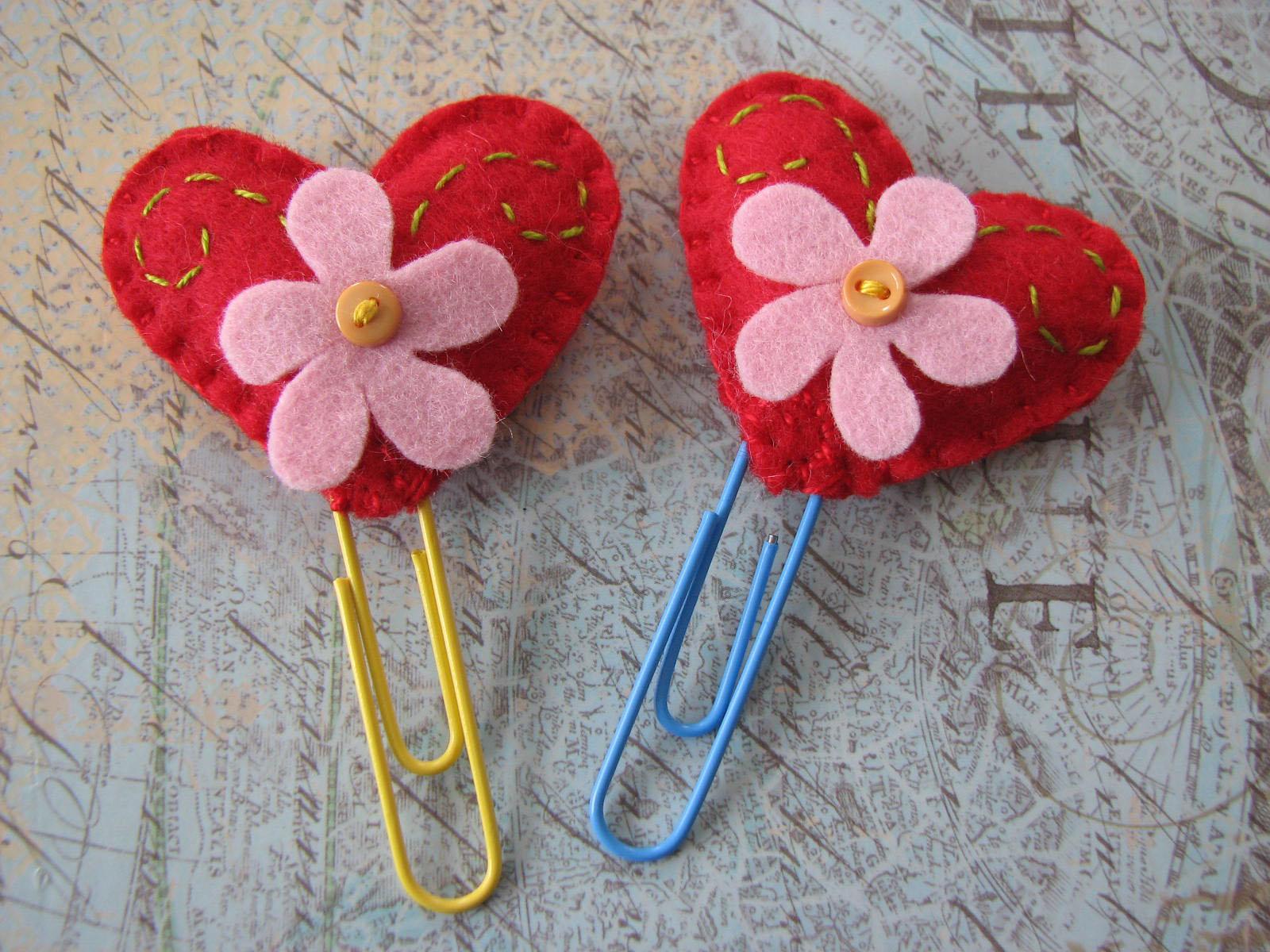 Декор на день святого валентина из фетра