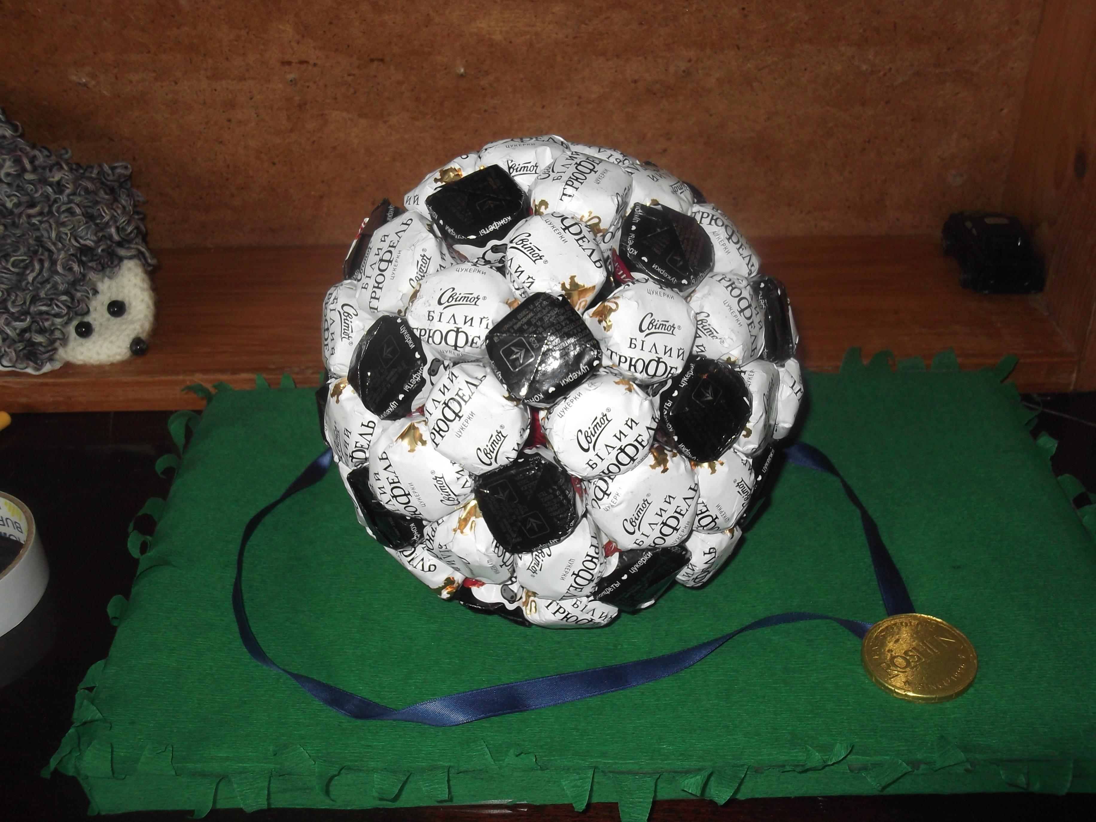Подарки на 23 февраля своими руками футбольный мяч