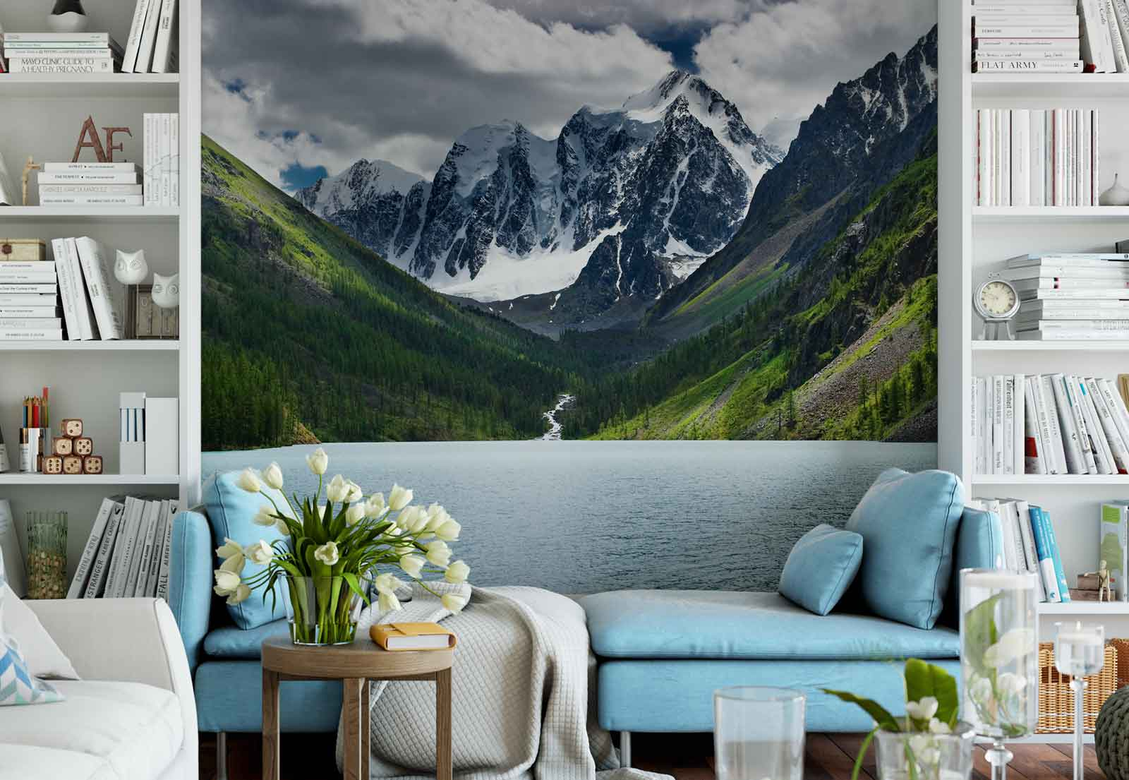 Фотообои горы с водой
