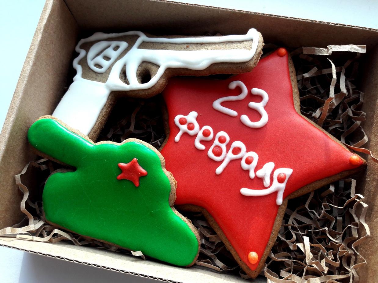 Подарки на 23 февраля своими руками имбирное печенье
