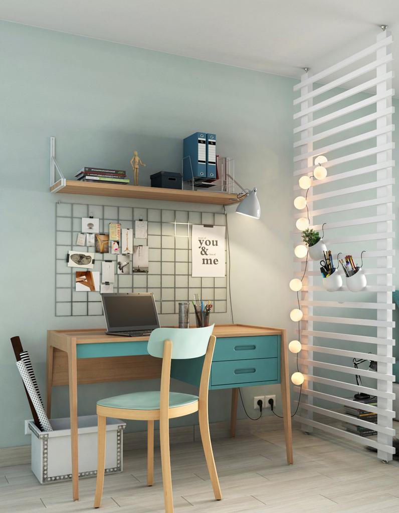 Как расставить мебель в однокомнатной квартире с кабинетом