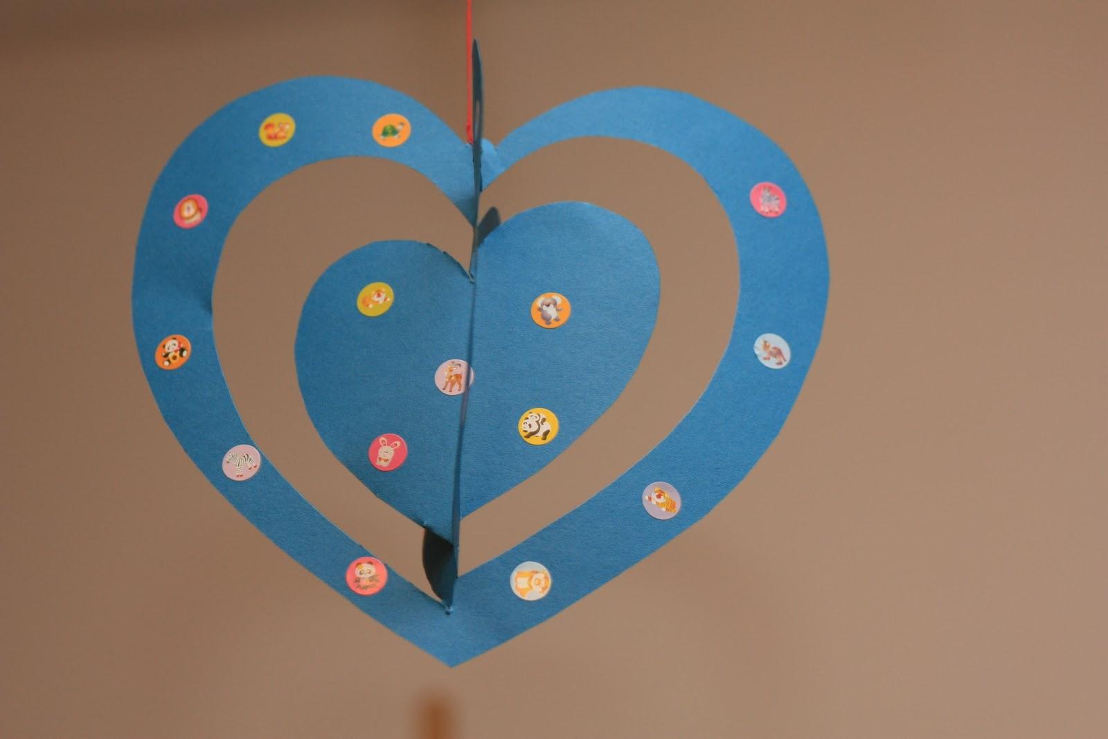 Поделка на 14 февраля киригами