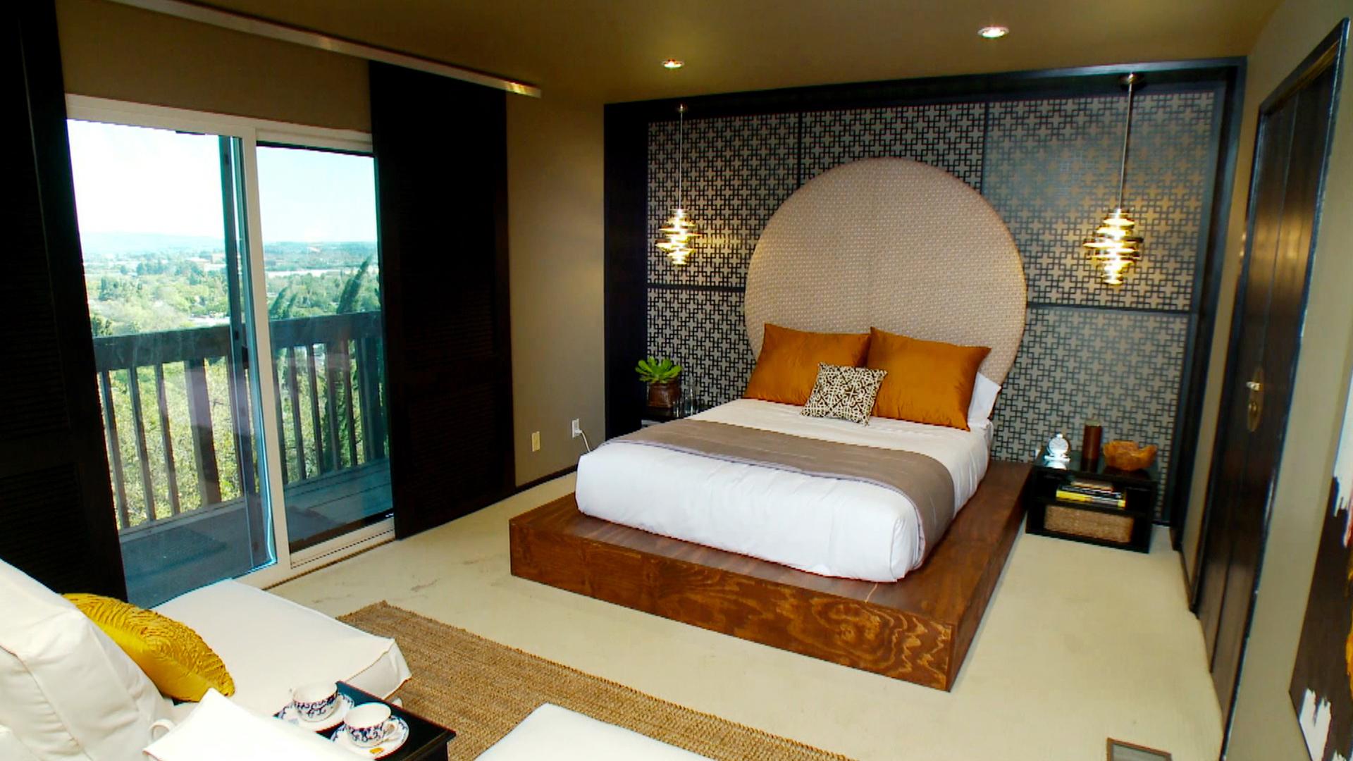 Кровать подиум в китайском стиле